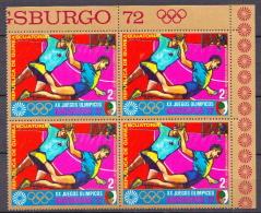 Guinea Equatorial Stamp In A Block Of 4 - Handball