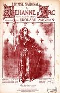 """1913 - PARTITION PATRIOTIQUE """"HYMNE NATIONAL A JEHANNE D'ARC"""" - ILLUSTRATION JEANNE D'ARC EN ARMES- TB ETAT - - Music & Instruments"""