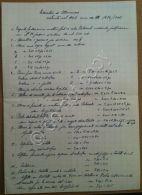 Resoconto Manoscritto Lavori Essicatoio Di Moncucco - Con Piantina - 1906 - Pubblicitari