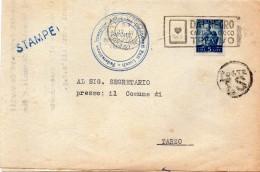 1949 LETTERA  CON ANNULLO TREVISO + TARGHETTA DALNEGRO CARTE DA GIOCO - 6. 1946-.. Repubblica