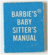 ORIGINAL BARBIE VINTAGE CLOTH -  #953 - BARBIE'S BABY SITTER'S MANUAL- 1965 - Barbie