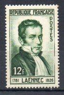 FRANCE 1952 - Dr René Laennec, Inventeur Du Stétoscope - N° 936  - (**) - Francia