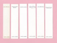 Cartes Parfumées   6  Carte  De  ESTEE LAUDER - Modernes (à Partir De 1961)