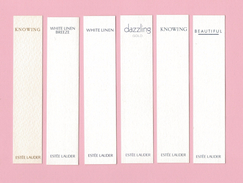 Cartes Parfumées   6  Carte  De  ESTEE LAUDER - Perfume Cards