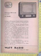 Watt Radio - Televisore WR 17/22 - Serie ANIE - Anni '60 - Pubblicitari