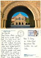 Church, Stanford University, California, United States US Postcard Posted 1987 Stamp - Otros