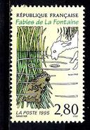 FRANCE 2960** 2,80f Multicolore Sur Crème Fables De La Fontaine Le Loup Et L´agneau - Frankreich