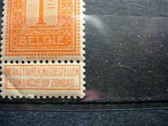 VARIETEIT DUBBELPUNT NA ZONDAG NR 108V2** POSTFRIS - 1912 Pellens