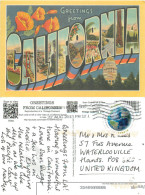 Greetings From, California, United States US Postcard Posted 2013 Stamp - Etats-Unis