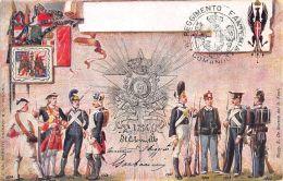 Cartolina Reggimentale    9° Reggimento Fanteria Brigata Regina - NVG - Cartoline