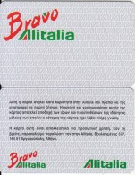 GREECE - Bravo, Alitalia Member Card, Sample - Flugzeuge