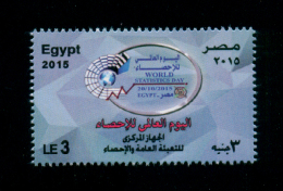 EGYPT / 2015 / WORLD STATISTICS DAY / CENTRAL AGENCY FOR PUBLIC MOBILIZATION & STATISTICS / MNH / VF - Nuovi