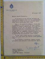 Autografo - Signature - Falcone Lucifero - 1955 - Crotone - Roma - Autographes