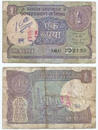 India 1 Rupee 1990, Firma 46, Letra B Pick 78A.e Ref 1119 - India