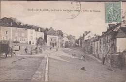 72-SILLE-LE-GUILLAUME-La Place Du Marché Aux Bestiaux, La Rue De Villaines 1924  Animé - Sille Le Guillaume