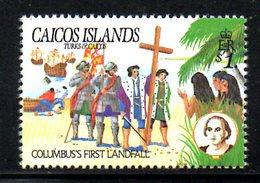 T1477 - CAICOS 1984, Yvert N. 46   **  COLOMBO - Turks E Caicos