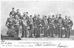 Cartolina - Eccidio  Belgrado - Protagonisti - 1903 - Ohne Zuordnung
