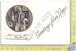 Papa Pio X - Cartolina Con Firma Stampata - Autographes