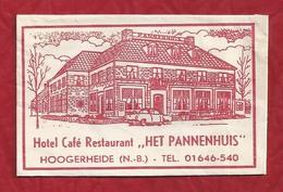 Suikerzakje.- HOOGERHEIDE. HOTEL CAFÉ RESTAURANT - HET PANNENHUIS -. Sugar. Sucre. 2 Scans - Sugars