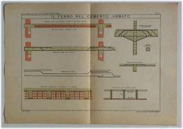 Tavola Architettura - Il Ferro Nel Cemento Armato - L. Vallardi - L. Bossi - Autres Collections