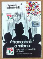 """Marcofilia - Locandina Francobolli A Milano Con Annullo Tematico E """"Italia '76"""" - Timbres"""