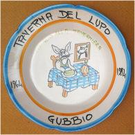 Piatto Buon Ricordo - Gubbio - Taverna Del Lupo - Coniglio - XX? - Presentazione - Oggetti 'Ricordo Di'