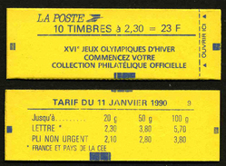 FRANCE - CARNET YT 2614-C7 - FERME - DATE - Confectionneuse 9 - Definitives