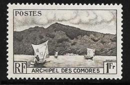 Comoro Islands, Scott # 32 Mint Hinged Anjouan Bay, Boats, 1950 - Comoros
