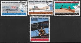 Comoro Islands, Scott # C179-82 Used Aviation History, 1987 - Comoros