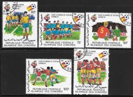 Comoro Islands, Scott # 507-11 Used World Cup Soccer, 1981 - Comoros
