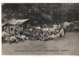 Nr. 7697,  Feldpost, Artillerie Beim Essen - War 1914-18