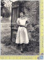 Cartolina - Postcard - Foto Ritratto - Donna In Abito Pizzo - Originale - Unclassified