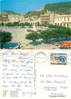 Solomou Square, Zakynthos, Greece Postcard Posted 1987 Stamp - Greece