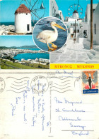 Mykonos, Greece Postcard Posted 1967 Stamp - Greece