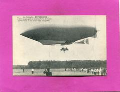 CHALAIS  / BALLON MONTE /  1908 /  LE  DIRIGEABLE REPUBLIQUE AU COUR DES ESSAIS DEFINITIFS - Zeppeline