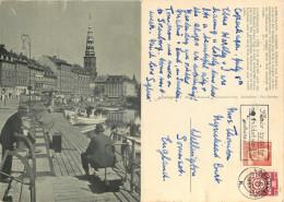 Gammel Strand, Copenhagen, Denmark Postcard Posted 1957 Stamp - Danemark