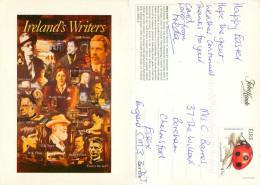 Irish Writers, Ireland Postcard Posted 2000s Stamp - Irlande
