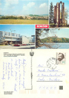 Benesov, Czech Republic Postcard Posted 1989 Stamp - Czech Republic