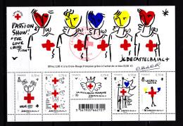 France 2016,  Bloc Feuillet, Obl 1er Jour 05.11.16 Et Sinature D' Aurélie Baras, Croix-Rouge,  Salon D'automne - Red Cross