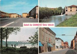 Cartolina -  Postcard - Saluti Da - Canneto Sull'Oglio - Vedutine - Italia