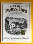 2434 - Suisse Vaud Tartegnin Clos Des Panissières Dorin André Jacquier La Vissenche - Etiquetas