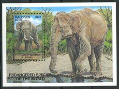 179 MALDIVES 1993 - Yvert BF 271 - Elephant - Neuf ** (MNH) Sans Trace De Charniere - Maldives (1965-...)