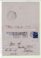 Biglietto Postale 20 Lire Blu  B43  1951 - Torino Trivero - 6. 1946-.. Repubblica