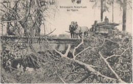 CPA - AK Polderhoek Schlosspark Schloss Park Brücke Unwetter Sturm Katastrophe Bei Zonnebeke Kruiseke Ypres Ypern Ieper - Zonnebeke