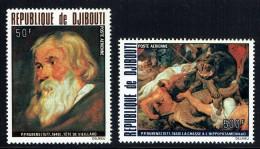 1978  Tableaux De Rubens: Tête De Vieillard, Chasse à L'hippotame  ** - Gibuti (1977-...)