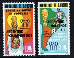 1978  Victoire De L'Argentine Coupe Du Monde De Football  ** - Gibuti (1977-...)