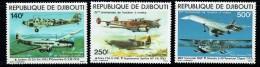 1979  Avions: Junkers, Dewoitine, Potez, Spitfire, Concorde, Sikorsky  ** - Gibuti (1977-...)