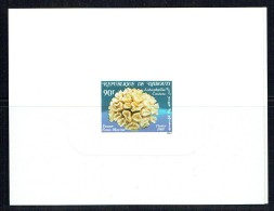 1989  Lobophyllia Costata  Corail  Epreuve Sur Bristol  ** - Gibuti (1977-...)