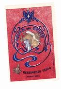 Vignette Militaire - Italie - Période Delandre (numéro Et Signature) Reggimento Genio Minatori - Vignettes Militaires
