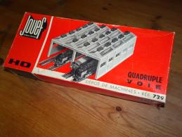 Boîte Carton Vide JOUEF, Dépôt De Machines Quadruple Voie HO, Référence 729, Train électrique, Bon état - HO Scale